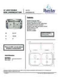 KSSDB2560-SS Specifications Sheet