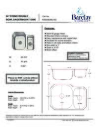 KSSDB2562-SS Specifications Sheet