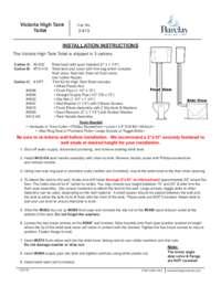 2-413  Victoria High Tank Installation Instructions