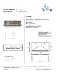 TSSSB2126 Specifications Sheet