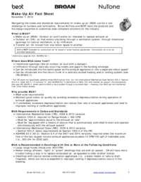 Make-Up Air Adapter Fact Sheet