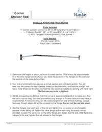 4117 Corner Rod Installation Instructions
