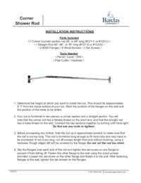 4117 Corner Rod Installation Instructions