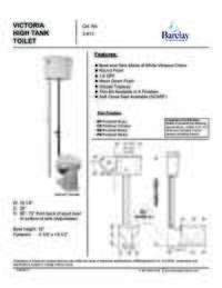 Toilet Specifications