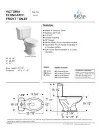 Toilet Specifications Sheet