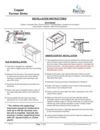 Installation Instructions