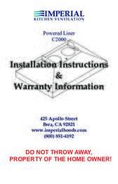 Insert Installation Guide