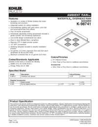 K-98741 Spec Sheet
