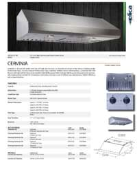 Cervinia Specification Sheet