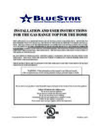 Installation, Use & Care Manual