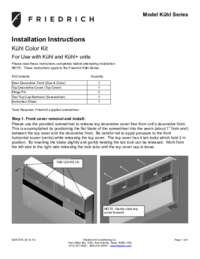 Colored Front Installation Manual