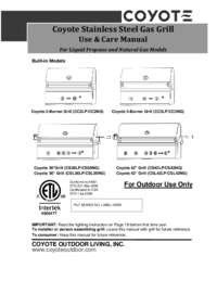 Coyote Grill Manual