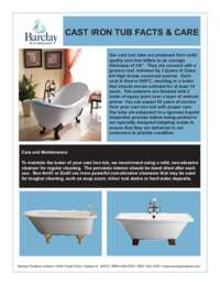 Cast Iron Tub Care
