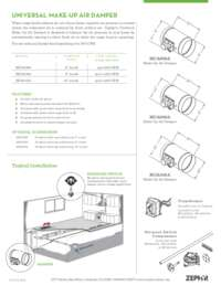 Make Up Air Damper Specifications