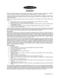 Standard Warranty Information
