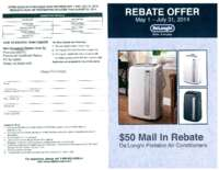 DeLonghi $50 Mail In Rebate
