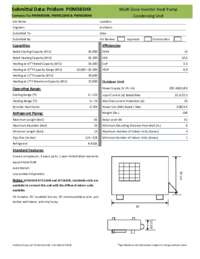 POM365HX Submittal Sheet