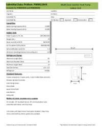 PWM123HX Submittal Sheet
