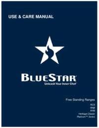 Freestanding Range Manual