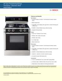 Bosch Hgs7052uc 30 Inch 700 Series Gas Freestanding Range