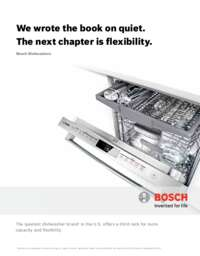 Bosch Dishwasher Brochure
