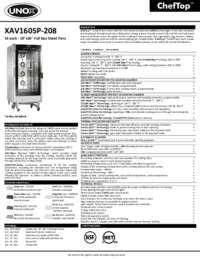 XAV1605P-208 Spec Sheet
