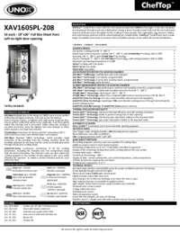 XAV1605PL-208 Spec Sheet
