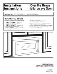 Installation Instructions (English, French, Spanish)