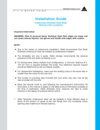 A WELLS GUIDE TO INSTALLATION OF UNDERMOUNT STAINLESS STEEL AND VITREOUS CHINA SINKS.PDF