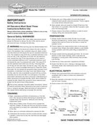Owner's Manual English