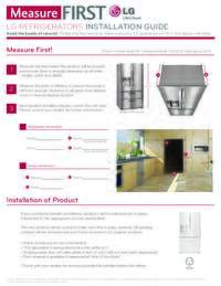 LG Measure First Refirgerator Guide
