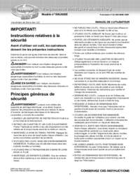 Owner's Manual French