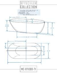WC-BT1000-71 Dimensions.