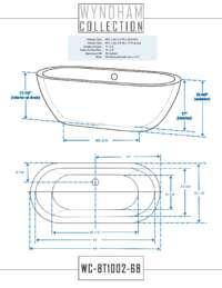 WC-BT1002-68 Dimensions