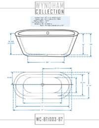 WC-BT1003-67 Dimensions.