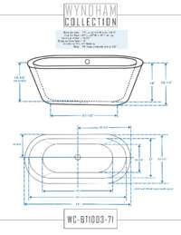 WC-BT1003-71 Dimensions.
