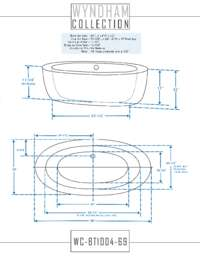 WC-BT1004-69 Dimensions