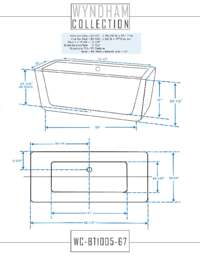 WC-BT1005-67 Dimensions.
