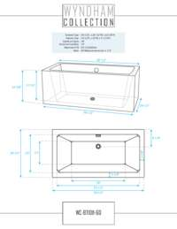 WC-BT1011-60 Dimensions