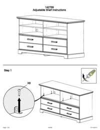 Instructions to Adjust Shelves