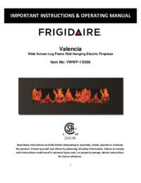 frigidaire valencia electric fireplace manual