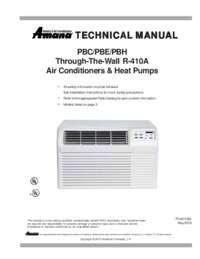 Amana Pbh113g35cb Ptac Air Conditioner 400 Sq Ft Cooling