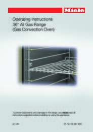 Convection Oven Manual