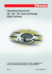 Gas Cooktop Manual