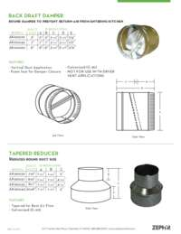 Wall Cap Inlet, Round