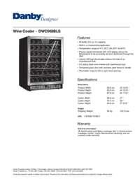 Danby Dwc508bls 23 8125 Inch Built In Wine Cooler In
