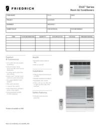 2013 Room Air Conditioners Chill Submittal