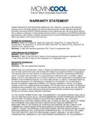 Warranty Statement