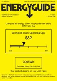 FF430BL Energy Guide