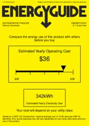 BI605BFFSSVH Energy Guide